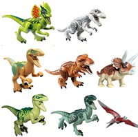 Wholesale Jurassic World Park mini figures dinosaurs t rex toy building blocks building toys building blocks dinosaur bricks toys