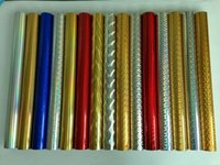 Wholesale Hongbo Laser foil ABS or paper Gold and Silver or multi color cm m per roll package use
