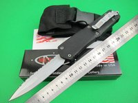 Wholesale Special offers New arrival Microtech Troodon A07 Tactical knife Double action Serrated blade Spear point knife knives with nylon sheath