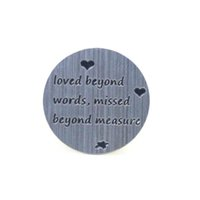 Charms word charms - Love Beyond Words Missed Beyond Measure Back Plate Backplate for Floating Memory and Living Locket Necklace Jewelry