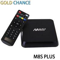 Wholesale M8S Plus Android TV Box Amlogic S812 Quad core G G Wifi GB GB H HEVC Bluetooth KODI Gigabit LAN Smart TV Box