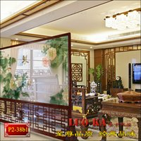 Wholesale Modern Chinese feng shui to improve translucent gauze screen solid wood seat off the living room wall decoration office