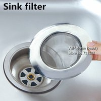 Wholesale 5 Stainless steel sink filter Linear basin Filter sink drain cover banco strainer bathroom Kitchen accessories