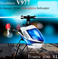 aircraft aileron - WLtoys V977 Power Star X1 GHz CH D G Flybarless RC Micro Helicopter Aircraft with Brushless and Non aileron Design