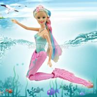 bath toys mermaid - 2015 Swimming Swim Magic Mermaid Doll Kids anime classic toys bath dolls toy for girls