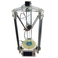 Wholesale Top Sales Heacent Rostock Mini Pro D Printer DIY Kit With quot Display White Use mm Filament