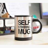 Wholesale Bluw lzay stainless steel Self stirring mug electric Automatic coffee stirring cup fashion cup