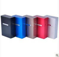 aluminum storage bins - Aluminum alloy Magnetic cigarette case smoke protection cover Storage Boxes Bins colors random