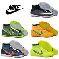 gold spikes - Nike Elastico Superfly IC Men Football Shoes Cheap Soccer Shoes High Quality Authentic Football Boots Men s Indoor Cleats Sport Shoes