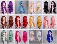 heat resistant hair - Women hair heat resistant inch long cm big wavy cosplay wig