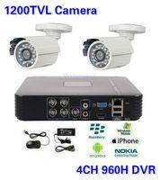 Wholesale CCTV Security CH DVR HVR NVR TVL Outdoor Bullet Camera Surveillance Camera System