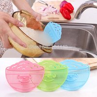 Wholesale Clean Rice Wash rice sieve manual kitchen good helper cooking tools utility not to hurt the hand Rice washing device cook tool