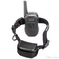 Wholesale Rechargeable and waterproof Remote Dog Training Collar DR Collar LCD display Remote Range to meters in retail box