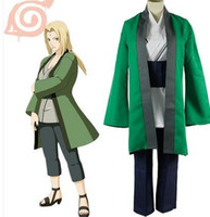 Women banded waist tops - New Arrival Japanese Anime Costume Cosplay NARUTO COSPLAY Tsunade Costume top coat pants waist band for adults Per Set