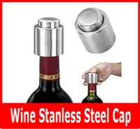 Wholesale Red Wine Stopper Stainless Steel Vacuum Cap Wacuum Sealed Red Wine Bottle Stopper Plug Bottle Cap Pressing Type