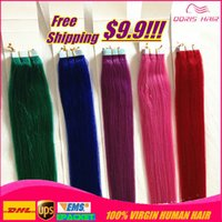 Cheap Silky Straight Tape Hair Extensions Best red tape in human hair