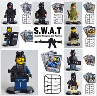 Wholesale Cheap Third Party Anti Terror Police SWAT Riot Police And Military Series Brand Little Boy S Building Blocks Toys For Kids