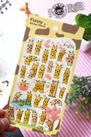 Wholesale New Wall Sticker DIY South Korea Sent Straight Three Dimensional Epoxy Decorative Stickers Funny Cute Giraffe