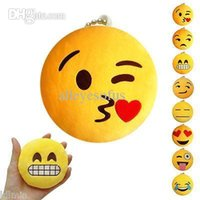 antique stuffed toys - NEW Style Cute Yellow Emoji Emoticon Cushion Stuffed Plush Toy Key Chain Pendant