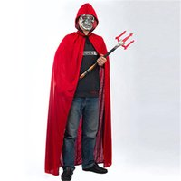 Wholesale Red Black Stain Cape Hooded Halloween Costumes for Women Men Fantasia Fancy Carnival maid party With Cloak m