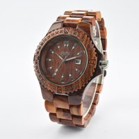 high end watches - 2015 New Fashion Dynamic Bamboo Wooden Watches Sports Watches Natural Wood Ebony Calendar Watch High End Men S Clothing Business Wooden Tabl