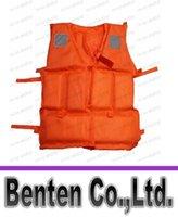 Wholesale Professional Orange Foam Swimming Adult Life Jacket with Whistle Drop shipping LLFA4783F