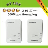 av network adapter - New mbps AV powerline wifi ethernet network Extender Homeplug adapter Kit with USA EU Plug Dropshipping