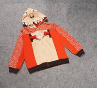 Wholesale 2016 Sale Boy Hooded New Baby The Dinosaur Hoodies Kids Jackets Coat Boys Girls Outerwear Spring Autumn Winter Long Sleeve Sweatshirts