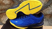 Wholesale 7 Colours With Box High Quality UA Stephen Curry One low Home Royal Warriors GS Women Basketball Sport Sneakers Trainers Shoes