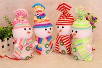 decorative bags - New Christmas gift bags cm Christmas tree buttons Snowman ornaments Christmas Eve Apple Bag decorative Christmas snowman gift pendant