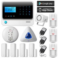 Wholesale IOS Android Wireless SMS Autodial Home Office GSM Alarm System Kit Indoor Siren