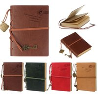 Wholesale 2015 Newest Vintage Magic Key String Retro Leather Note Book Journal Diary Notebook Cami