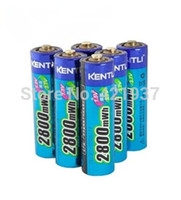 Wholesale KENTLI mWh AA battery V AA rechargeable battery camera battery lithium polymer battery