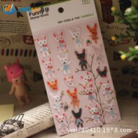 Wholesale Korea Sent Straight Three Dimensional Blankets Decorative Funny Stickers Funny Little Fox