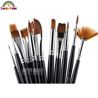 artist brushes for makeup - Face Paint Brushes Professional Nylon Hair Paint Brush Set Face Painting Body Makeup Wooden Handle for Artist Art Supplies