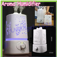 Wholesale Aromatherapy diffuser air humidifier LED Night Light With Carve Design Ultrasonic humidifier air Aroma Diffuser mist maker