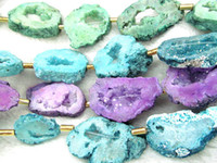 aqua rocks - 25 mm inch high quality Druzy Agate gemstone Nugget freeform rock aqua blue assortment Pendant