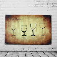 antique wine cellar - Vintage Wine Glasses Metal Tin Sign Plaque Cellar Bar Pub HOME Wall Decor Kitchen Vineyard Display