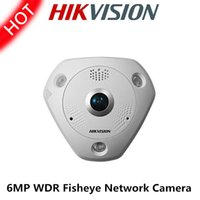 Wholesale Hikvision MP Fisheye Network Camera progressive scan CMOS DS CD6362F I VS view angle m IR support POE ip66