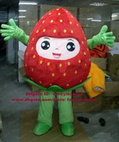 Cheap Newest Strawberry Kid Kiddy Moppet With Pink Face Mascot Costume Mascotte Adult Outfit Suit Fancy Dress No.23 Free Shipping