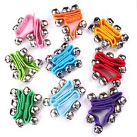Wholesale Musical Instrument Kids Toys Hot Lovely Cute Baby Toddler Rainbow Wrist Foot Bell Rattle Pram Crib Shaker Toy Shaker Toy