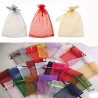 Wholesale 100pcs colors Wedding Gift Luxury Organza Wedding Favor Xmas Gift Bags Jewellery Pouches x9cm