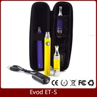 bags ets - Best quality EVOD Battery mah evod ets BDC Clearomizer Glass Tube ML Vaporizer start kit with ego charger zipper bag VS SUBVOD