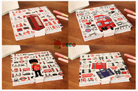 Wholesale Fashion design Vintage London diary notebook paper Notepad paper notebook cute stationery novelty products