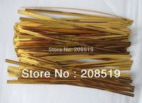 Wholesale 2014 Packaging Chiyogami T003 Christmas Gift Package Bundle Wire Metal Gold Color cm Tie Up for Flower candy Bag Etc