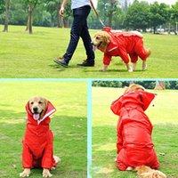 big retriever - Large Dog Raincoat Clothes Waterproof Rain Jacket Jumpsuit For Big Dogs Retriever Rain Cape Big Dog Rain Suit Red Blue