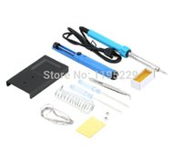 Cheap 9 in1 DIY Electric Soldering Iron Starter Tool Kit solder station With Iron Stand Solder Desoldering Pump 220V 40W