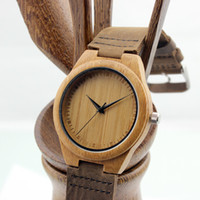 bamboo stainless - Newest Classic Bamboo Wooden Watch japanese miyota movement casual wristwatches genuine leather bamboo wood watches for men women watch