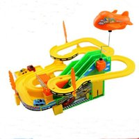 cheap new arrival 1set childrens toys thomas track racing toy electric roller coaster rotating slide car