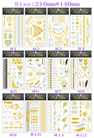 flashing christmas jewelry - body art gold temporary tattoos gold tattoo jewelry flash tatoo stickers